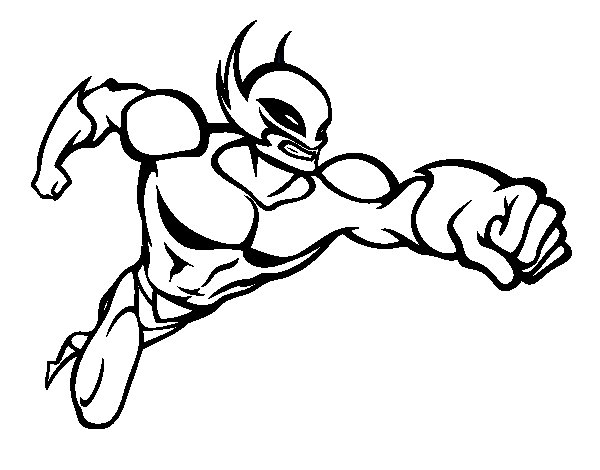 Coloriage de superhero sans cape pour colorier - Superhero dessin ...
