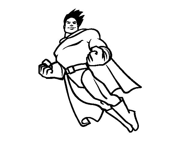 Coloriage de superman en vol pour colorier - Coloriage en ligne superman ...