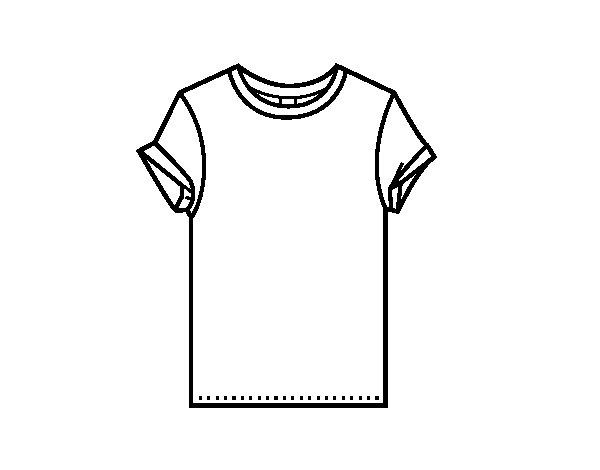 coloriage de t shirt moderne pour colorier. Black Bedroom Furniture Sets. Home Design Ideas