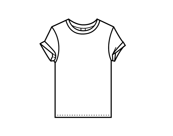 coloriage de t shirt moderne pour colorier. Black Bedroom Furniture Sets. Home Design Ideas