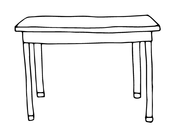 Coloriage de table rectangulaire pour colorier for Table a dessin