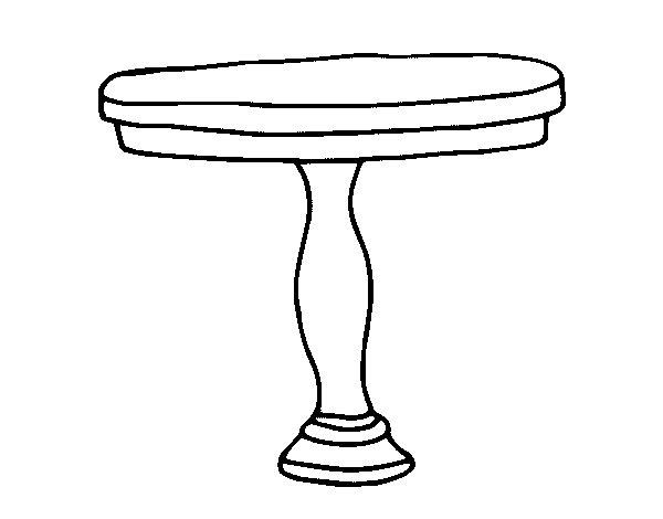 Coloriage de table ronde pour colorier - Coloriage table ...