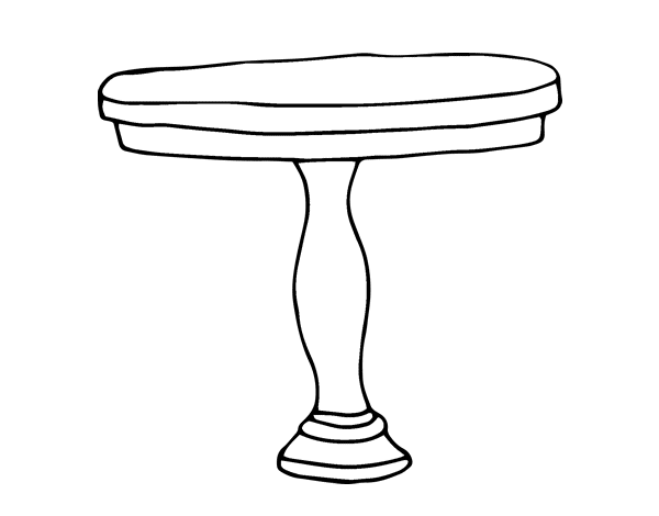 Coloriage de table ronde pour colorier - Table de dessin ikea ...