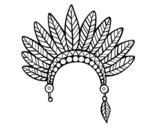 <span class='hidden-xs'>Coloriage de </span>Tête de la couronne de plumes indienne à colorier