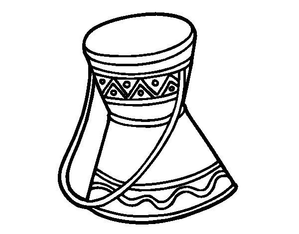 Coloriage de tambour africain pour colorier - Dessin africain a colorier ...