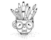 <span class='hidden-xs'>Coloriage de </span>Tasse animée avec des crayons à colorier