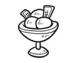 <span class='hidden-xs'>Coloriage de </span>Tasse avec trois boules de crème glacée à colorier