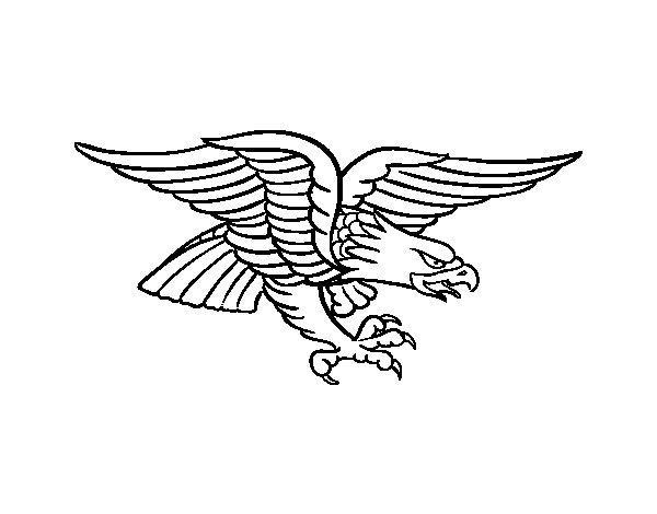 Coloriage de Tatouage d'aigle pour Colorier