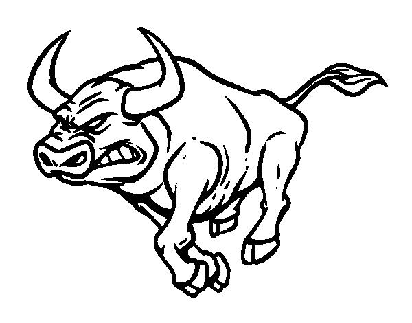 Coloriage de taureau furieux pour colorier - Dessin tete taureau ...
