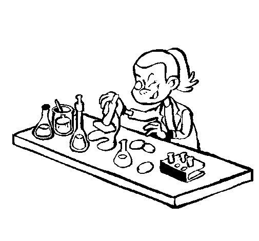 Coloriage de Technicien de laboratoire pour Colorier