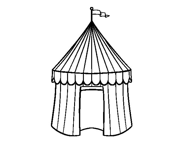 Coloriage de Tente de cirque pour Colorier