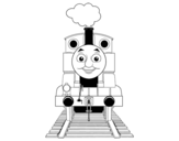 <span class='hidden-xs'>Coloriage de </span>Thomas de Thomas et ses amis à colorier