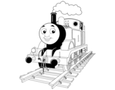 <span class='hidden-xs'>Coloriage de </span>Thomas la locomotive à colorier