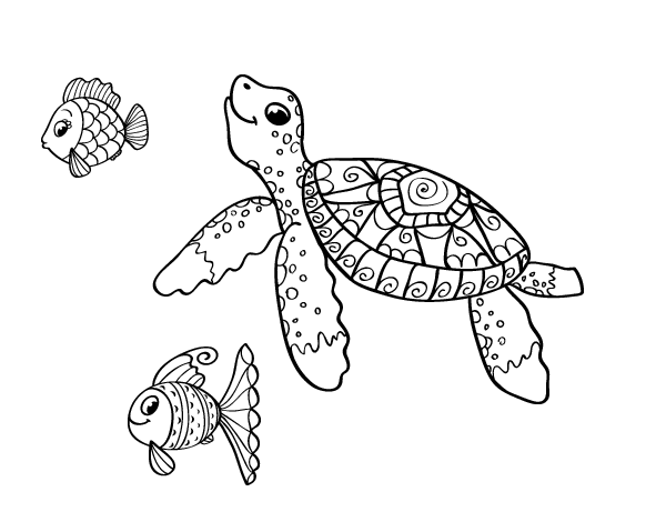 Ocean coloring pages - Coloriage tortue ...