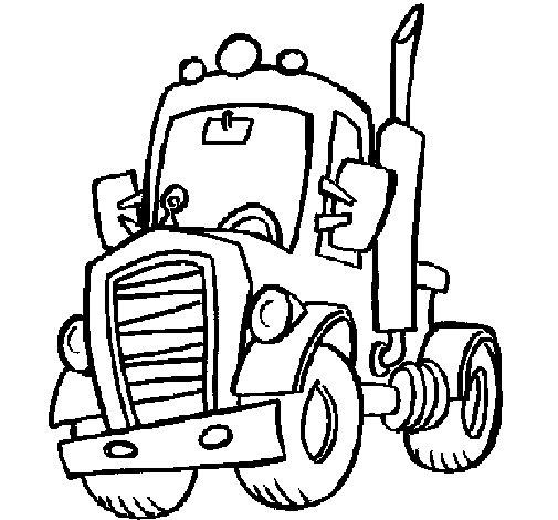 Coloriage de tracteur pour colorier - Coloriages tracteur ...