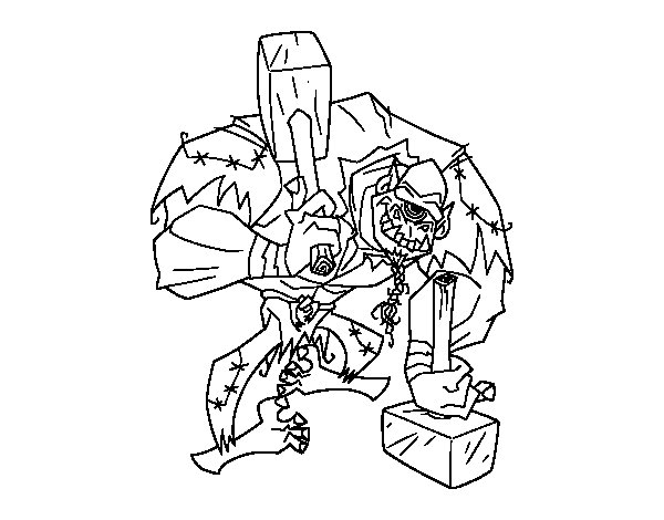 Coloriage de troll cyclope pour colorier - Dessin de troll ...