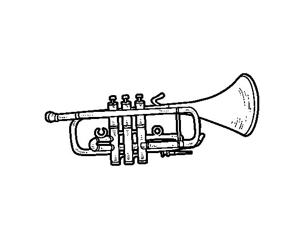 Coloriage de Trompette basse pour Colorier