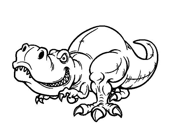 Coloriage de Tyrannosaure pour Colorier