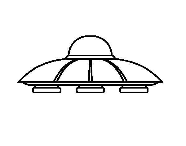 Coloriage de UFO aliens pour Colorier