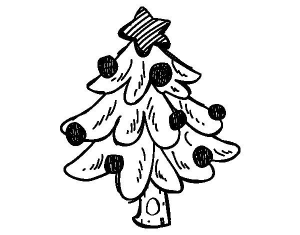 Coloriage de Un arbre de Noël pour Colorier