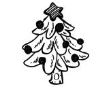 <span class='hidden-xs'>Coloriage de </span>Un arbre de Noël à colorier