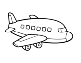 <span class='hidden-xs'>Coloriage de </span>Un avion de passagers à colorier