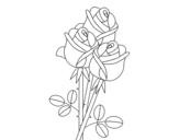 <span class='hidden-xs'>Coloriage de </span>Un bouquet de roses à colorier