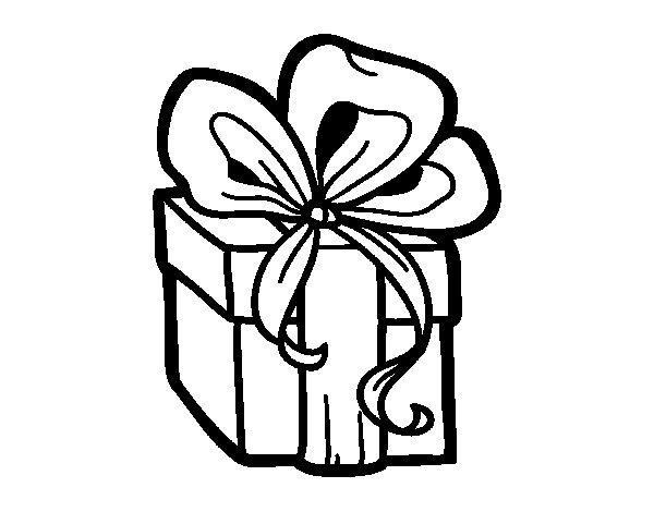 Coloriage de un cadeau de no l pour colorier - Dessin de cadeau ...