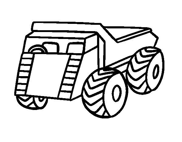 Coloriage de Un camion pour Colorier