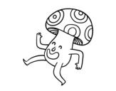 <span class='hidden-xs'>Coloriage de </span>Un champignon heureux à colorier