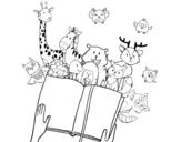Dibujo de Un conte d'animaux