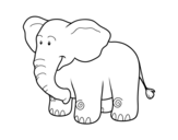<span class='hidden-xs'>Coloriage de </span>Un éléphant d'Afrique à colorier