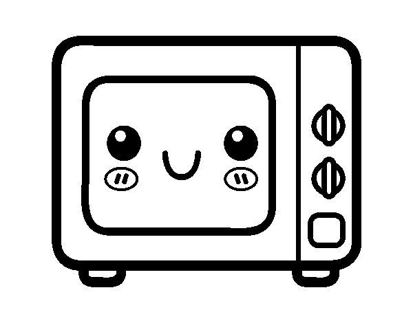 Coloriage de Un four à micro-ondes pour Colorier