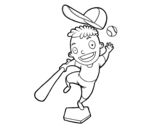 <span class='hidden-xs'>Coloriage de </span>Un frappeur de base-ball à colorier