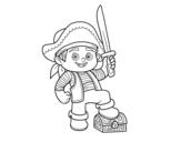 <span class='hidden-xs'>Coloriage de </span>Un garçon de pirate à colorier