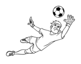 <span class='hidden-xs'>Coloriage de </span>Un gardien de but de football à colorier
