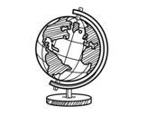 Dibujo de Un globe planétaire