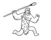 Dibujo de Un homme des cavernes