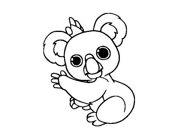 Coloriage de Un Koala pour Colorier