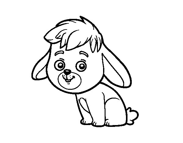 Coloriage de Un lapin de champ pour Colorier