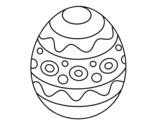 <span class='hidden-xs'>Coloriage de </span>Un oeuf de Pâques à motifs à colorier
