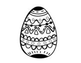 <span class='hidden-xs'>Coloriage de </span>Un oeuf de Pâques décoré à colorier