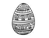 <span class='hidden-xs'>Coloriage de </span>Un oeuf de Pâques décorés à colorier
