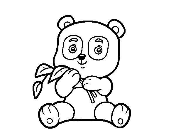 Coloriage de un panda pour colorier - Panda pour coloriage ...