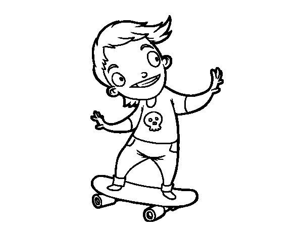 Coloriage de Un skater pour Colorier