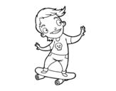 <span class='hidden-xs'>Coloriage de </span>Un skater à colorier
