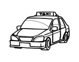 <span class='hidden-xs'>Coloriage de </span>Un taxi à colorier