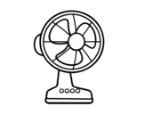 <span class='hidden-xs'>Coloriage de </span>Un ventilateur à colorier