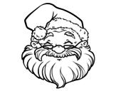 <span class='hidden-xs'>Coloriage de </span> Un visage de Santa Claus à colorier