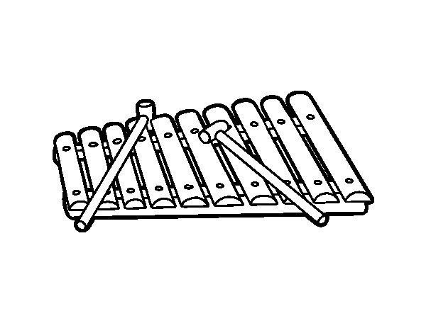 Coloriage de Un xylophone pour Colorier